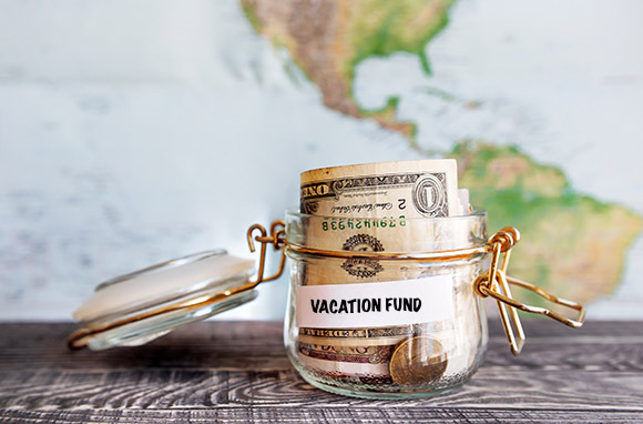 Travel fund, budget travel, saving