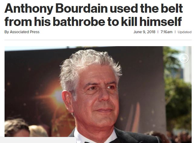 New York Post, Anthony Bourdain, journalism, ethics
